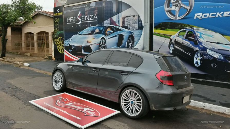 "BMW 120I 2010 com rodas Gallop GP Wheels aro 19""   e pneus Hankook 235/35/19 - Foto #3"