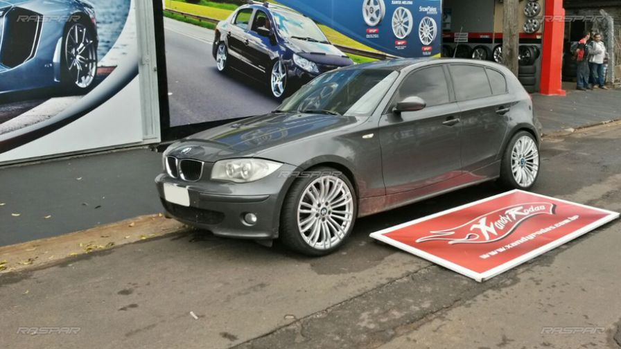 "BMW 120I 2010 com rodas Gallop GP Wheels aro 19""   e pneus Hankook 235/35/19 - Foto #4"